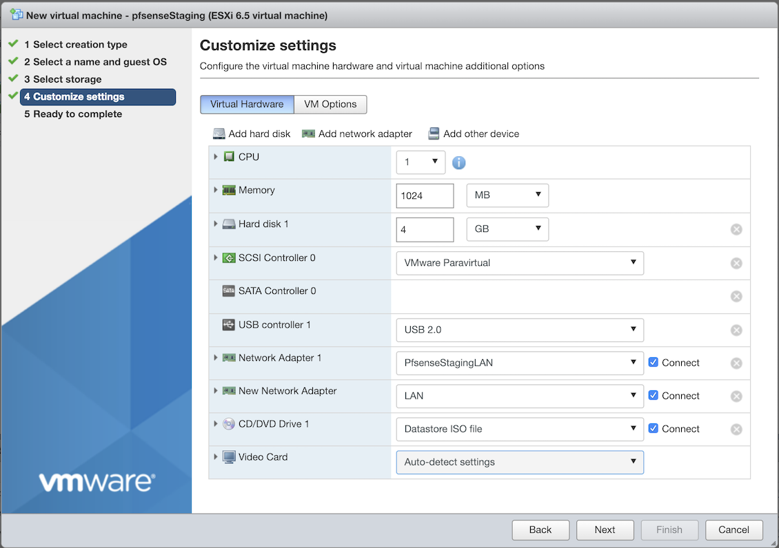 Installing pfsense firewall in VMware ESXI home server – Ramiro